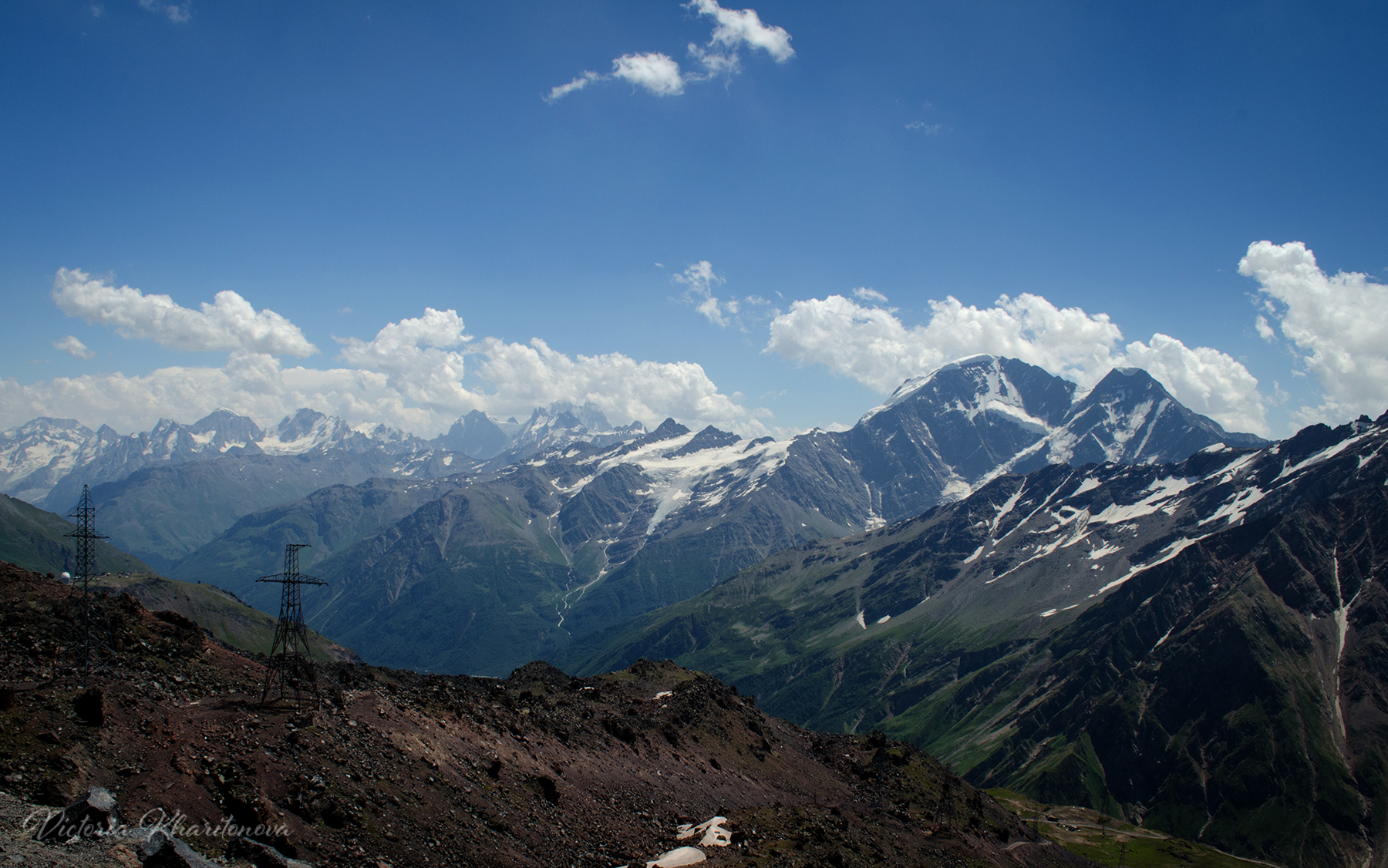 View from Elbrus mountain